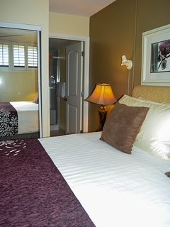 The bedroom features a King bed and ensuite bathroom