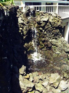 Waterfall behind the house