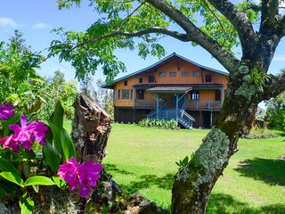 Hale O Kamakani (House of Upward Breezes) in the quiet Puna Beach Palisades neighborhood