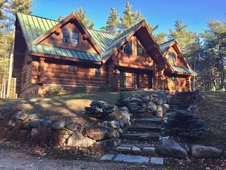 17 Acres of Privacy! Luxury Log Home in Eaton, Conway