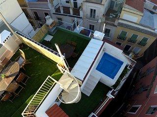 Atico duplex con piscina en el corazon de Sevilla.
