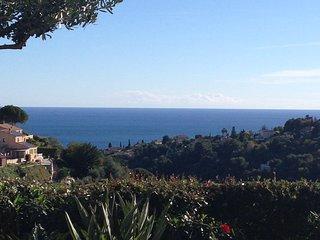 appartement situé en rez de chaussée avec terrasse et jardin avec vue mer, Nice