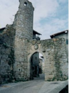 Part of the tower of the castle.