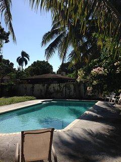 Pool area facing Southeast