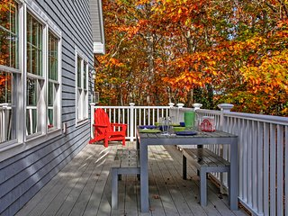 Hanging out on the spacious deck overlooking the surrounding woodlands, you're sure to have a revitalizing retreat!