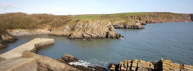 Walk to Stackpole Quay- home to the wonderful National Trust Boathouse Café