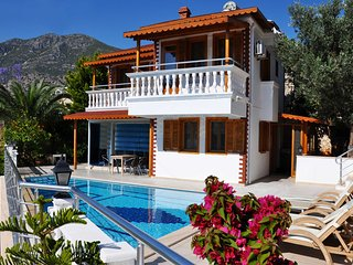 2 Bedroom, 50 meters from the sea front,  private pool rental villa in Turkey