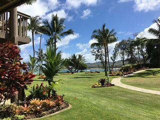 Be Our Guest in PARADISE - Beautiful Ground Floor Oceanfront unit under NEW Ownership - Lae Nani Condo #317, Kapaa