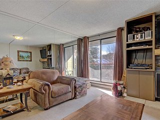 Slopeside condo - walk to town, stunning views & hot tubs/sauna!