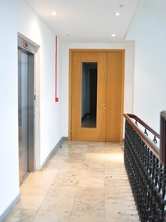 Lift Lobby and ornamental staircase