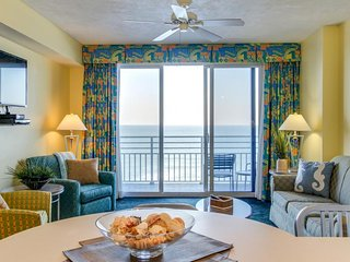 Oceanfront condo w/ views, shared pools, hot tub, & the beach just steps away