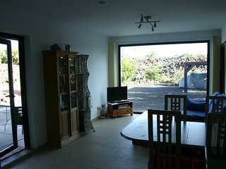 The TV offers 120ish British TV programmes. Large window overlooks the orchard/carparking areas