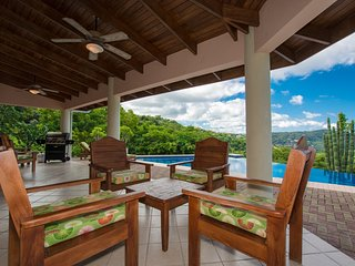 Villa Quetzal -Two Floors of Open Air Terraces overlooking the Pacific