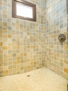 Take long, warm showers in the walk-in showers!