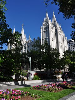 LDS Mormon Temple downtown Salt Lake City 15 miles from here