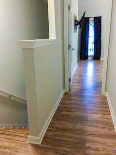 Clean wood flooring