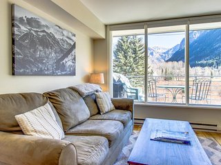 Contemporary alpine getaway with shared hot tub - walk/shuttle to gondola, Telluride