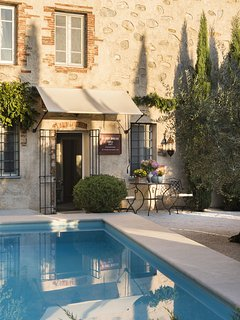 Jump into the sparkling pool after a long sightseeing tour