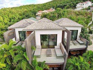 Mi-appartement / mi-villa avec 2 chambres 6 personnes + Voiture location offerte, Gustavia