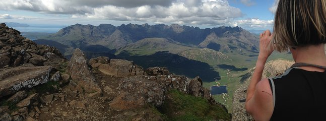 Climbing the Cuillins - what a view!