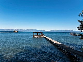 Cathedral Pines -Very Private 6 BR West Shore Lakefront w Pier & Buoy, Tahoe City
