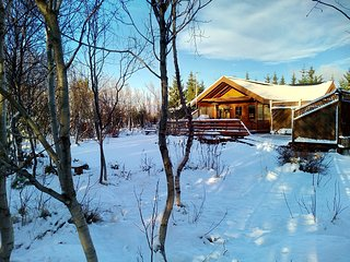 Golden Circle cabin with Jacuzzi and WiFii, Arborg