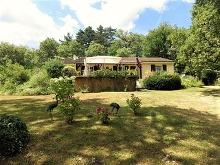 La Pierre Plantee located in a tranquil woodland setting.