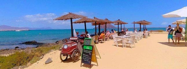 10 min walk to this beach bar