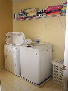 Laundry Area with Pool Towels