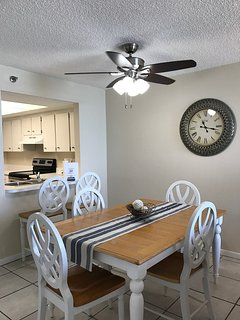 Fresh paint along with brand new ceiling fans throughout the whole Condominium