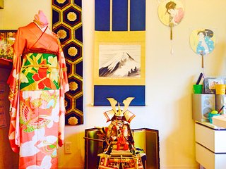 Japanese culture house near JR Ikebukuro!Cooking,Kimono,Green Tea,Anime,Music!!