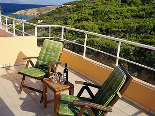 Luxury villa SEA AND WALES overlooking the sea just 80m. from the sandy beach., Rafina