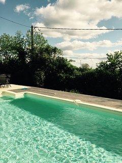 Beautiful farmhouse with heated pool, hot tub and games room. Sleeps 8
