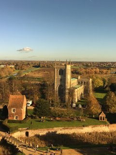 View from the top of Tattershall Castle
