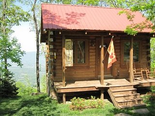 Log Cabin with a Million Dollar View. Hot Tub! Close to downtown and attractions