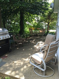 Shaded patio - gas grill