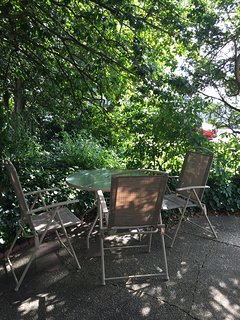 Shaded patio - sip your morning coffee and listen to the birds