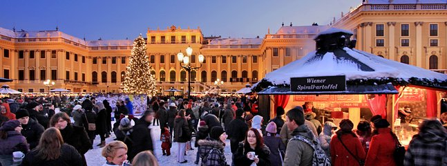 Christmas market Schönbrunn in November and December