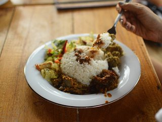 Rice and Curry, a staple here!