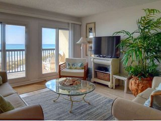 C1-203 -Beachfront Condo - Birds Eye View! WIFI- Steps to Beach -