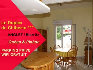 ANGLET / Biarritz : Nice Duplex 3* with 2 bedrooms, close to ocean and forest