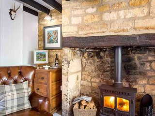 Light the wood burner and pour a glass of wine