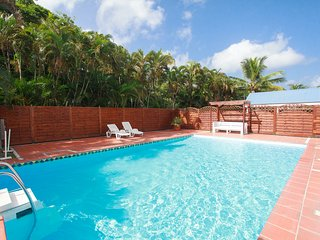 Flat/private pool/WiFi 1' to the beach-Martinique