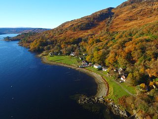 Ardnamurchan  House on the Shore  on Loch Sunart  West Highlands Sleeps 8, Salen