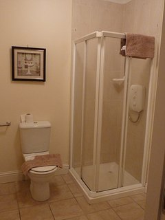 Downstairs bathroom with wheelchair access.