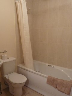 Upstairs bathroom with shower.