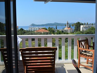 Romantic apartment with sea view and balcony, Lopud