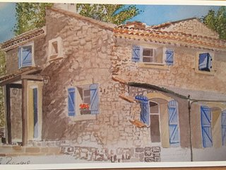 Charming traditional stone house, private pool. Close to village & supermarket
