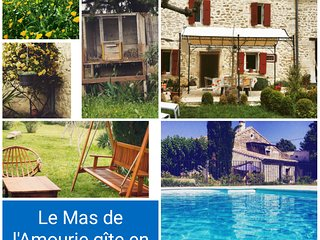 Mas en Provence avec piscine et terrain, Saint-Paul-Trois-Chateaux