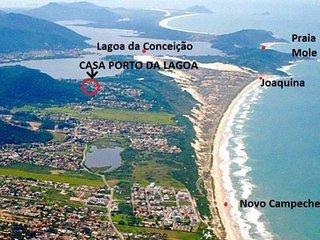 -> sobrado na lagoa com acesso para joaquina com linda trilha parque ecológico, Lagoa da Conceicao